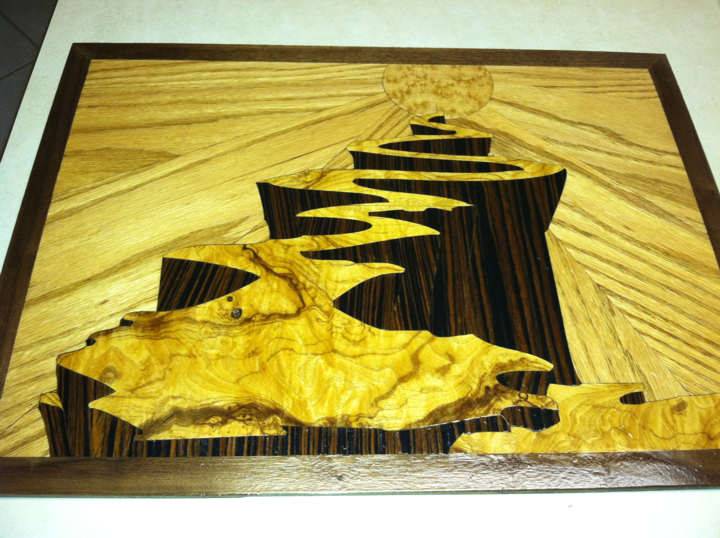 Rolling Sun Marquetry